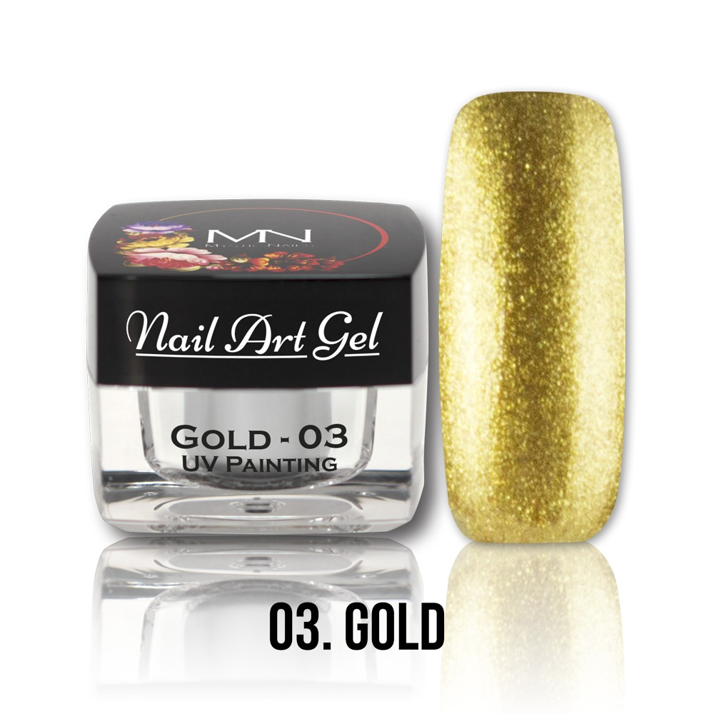 uv painting nail art gel 03 gold