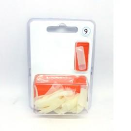 XN Natural Nail Tips Size 2 - 50pcs
