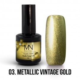 Gel Polish Metallic 03 - Metallic Vintage Gold 12 ml