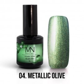 Gel Polish Metallic 04 - Metallic Olive 12 ml