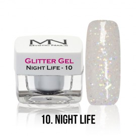 Glitter Gel - no.10. - Night Life - 4g