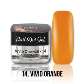 UV Painting Nail Art Gel - 14 - Vivid Orange